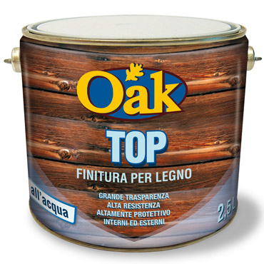 OAK top finitura impregnante all'acqua con filtri UV